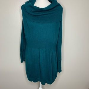Old navy plus teal green cowl neck sweater